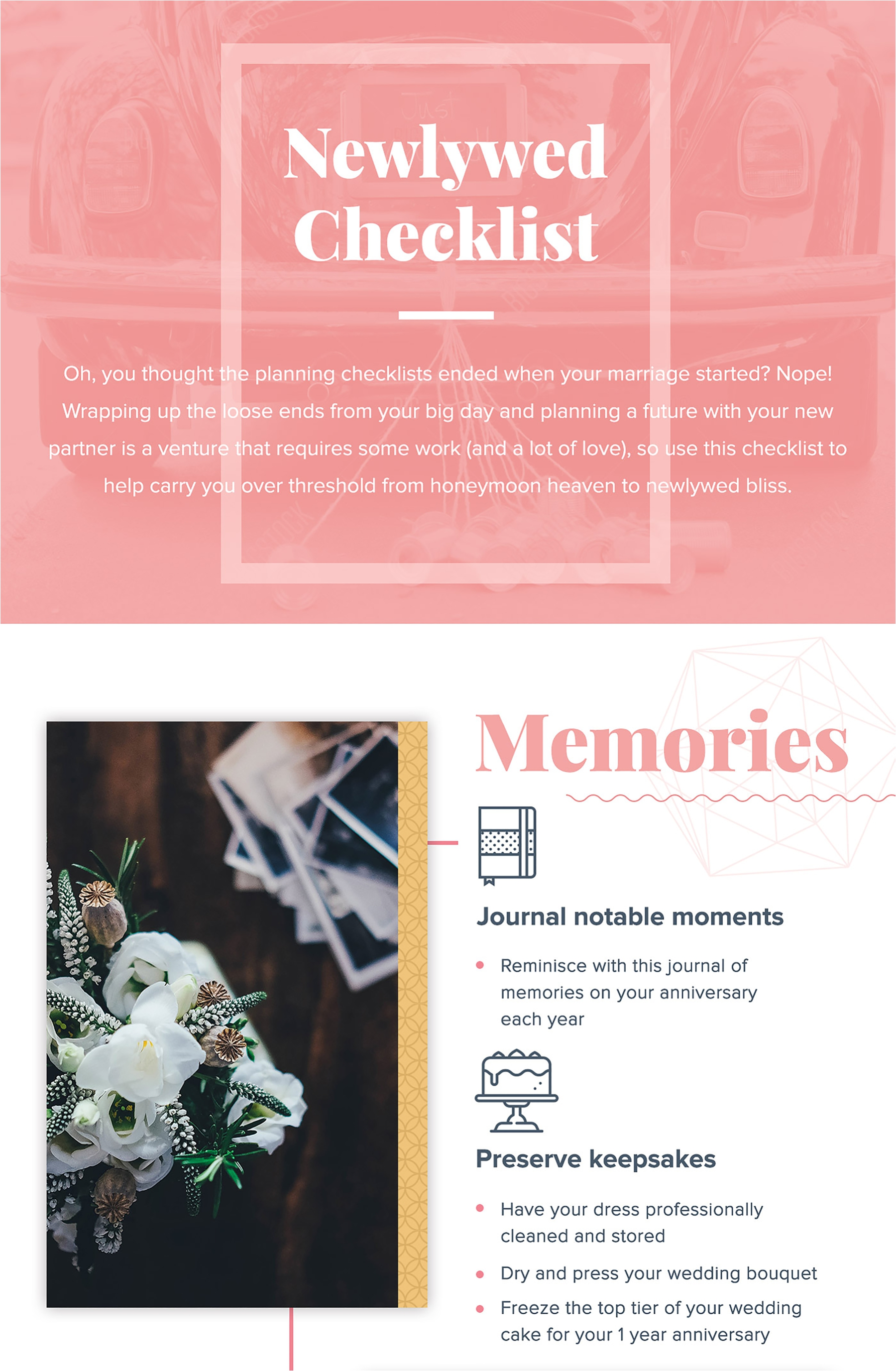 After the Cake: A Checklist for Newlywed's