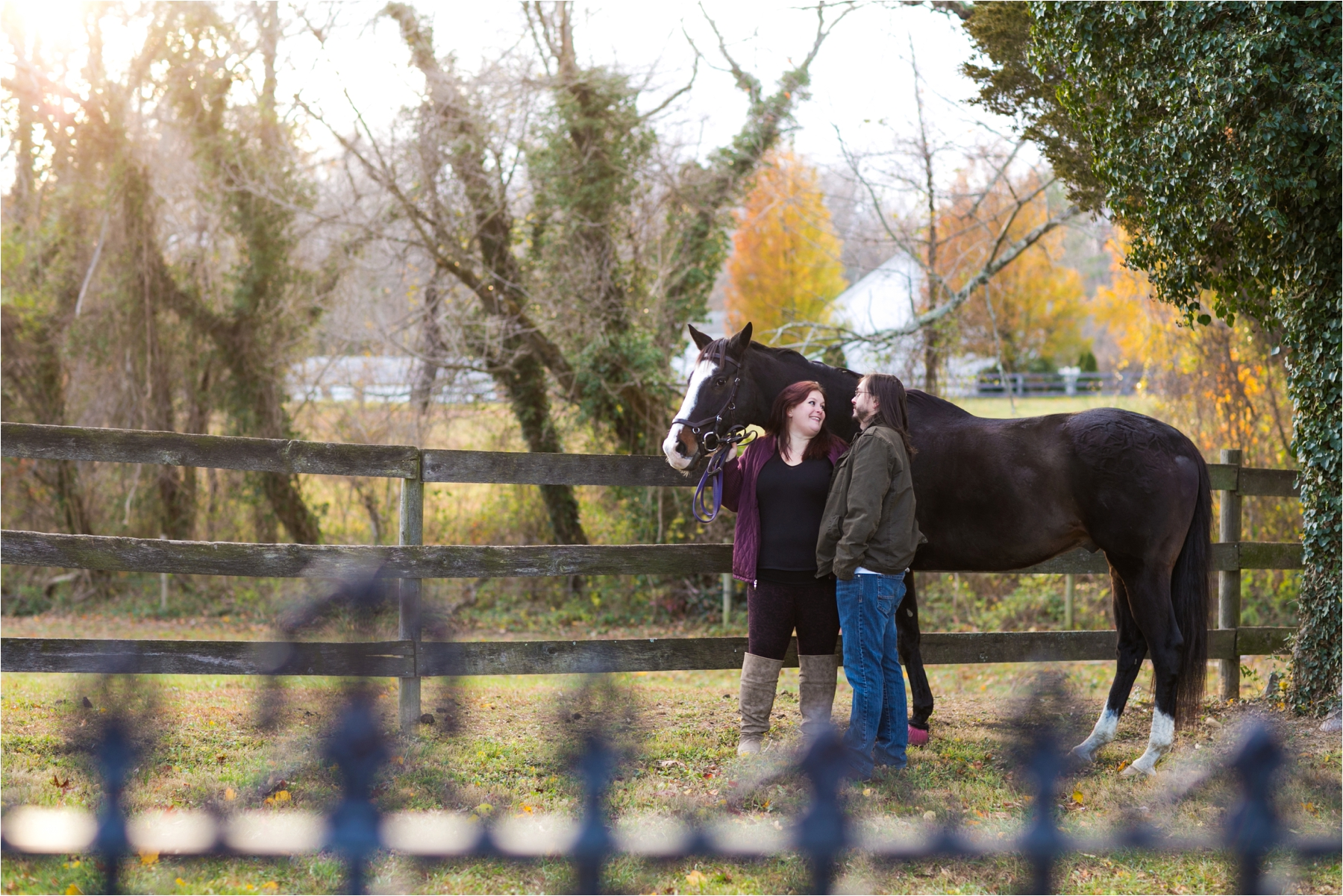 Jenn & Brian : Horse Farm Engagement